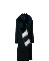 Off-White Fur Collar Long Coat