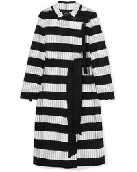 Akris Embroidered Wool Blend Felt Coat