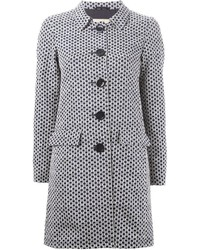 Geometric print coat medium 352166