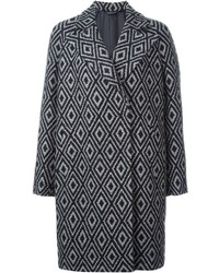 Patterned midi coat medium 352162