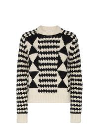 Saint Laurent Boxy Graphic Knit Jumper