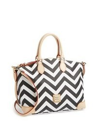 Dooney & Bourke Chevron Satchel Black