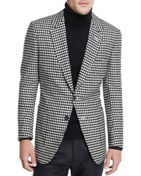 Buckley base large gingham sport coat blackwhite medium 339496