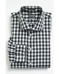 Black and White Gingham Long Sleeve Shirt