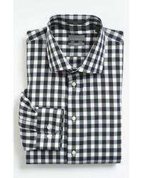 Black and White Gingham Long Sleeve Shirt