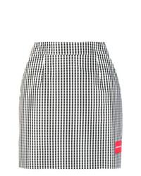 Ck Jeans Gingham Mini Skirt