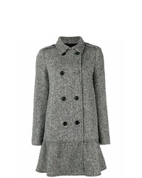 RED Valentino Double Breasted Herringbone Coat