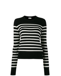 Saint Laurent Black Striped Jumper