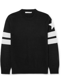 Slim Fit Appliqud Cotton Sweater