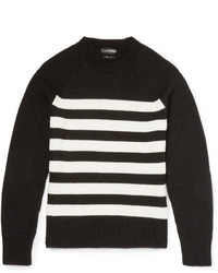 Tom Ford Slim Fit Striped Merino Wool Sweater