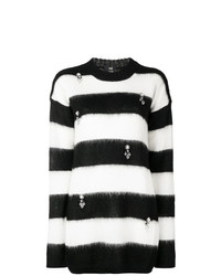 Cavalli Class Striped Embellished Jumper