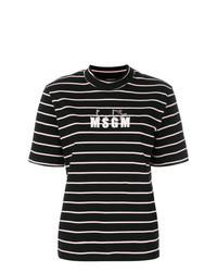 X diadora high neck striped t shirt medium 7736007