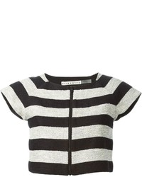 Alice + Olivia Aliceolivia Striped Cropped Top