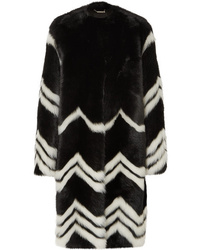 Givenchy Chevron Shearling Coat