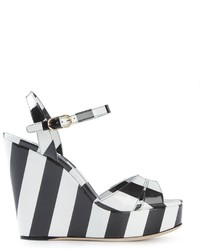 Dolce & Gabbana Striped Wedge Sandals