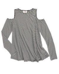 Hip Girls Hip Stripe Cold Shoulder Shirt