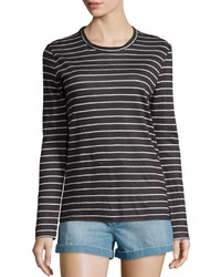 Isabel Marant Karon Long Sleeve Dublin Striped Tee Black