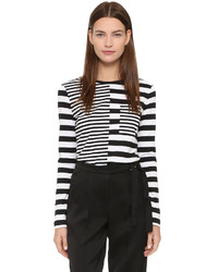 Edun Long Sleeve Combo Stripe Tee