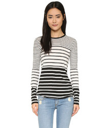 Vince Long Sleeve Engineered Striped Crew