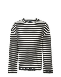 Juun.J Long Sleeve Stripe T Shirt