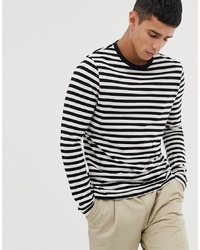 ASOS DESIGN Long Sleeve Stripe T Shirt