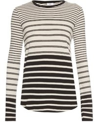 Vince Long Sleeved Striped T Shirt