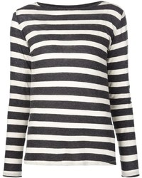 Majestic Filatures Striped Long Sleeve T Shirt