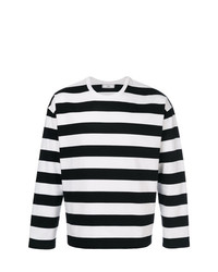 AMI Alexandre Mattiussi Striped Long Sleeves T Shirt
