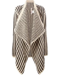 Striped open front cardigan medium 321907