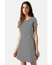 Sailor stripe bonded skater dress medium 87751