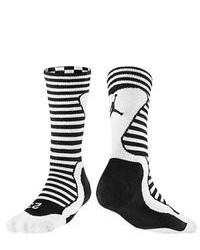 Black and White Horizontal Striped Socks