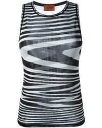 Wavy stripe knit tank top medium 799995