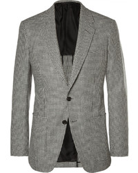 Grey slim fit houndstooth wool blazer medium 339923