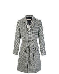 Black and White Houndstooth Overcoat
