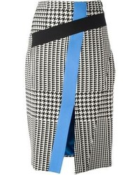 Emanuel houndstooth print pencil skirt medium 89205
