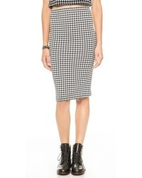 Houndstooth pencil skirt medium 89213