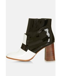 Topshop Pop Message Leather Ankle Boots