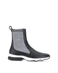 Fendi Ribbed Two Tone Boots