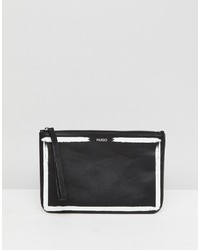 Hugo Graffiti Logo Clutch Bag