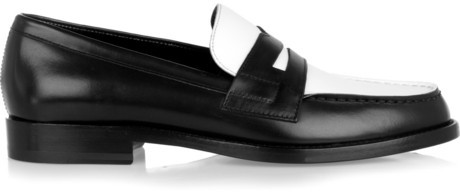 25edc06db928f Saint Laurent Two Tone Leather Penny Loafers, £573 | NET-A-PORTER ...