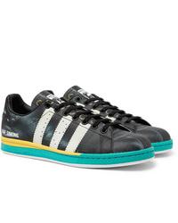Raf Simons Adidas Originals Samba Stan Smith Printed Leather Sneakers