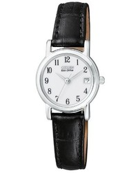 Black and White Leather Watch