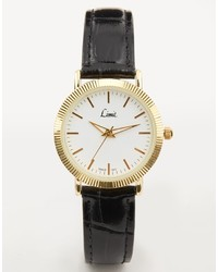 Limit White Face Leather Watch