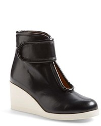 Mm6 nappa leather wedge bootie medium 123774