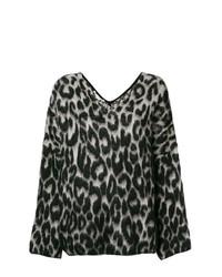 Stella McCartney Textured Leopard Print Sweater