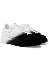 Alexander McQueen Exaggerated Sole Leather And Velvet Sneakers