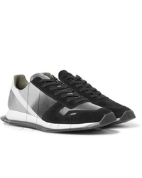 Rick Owens New Vintage Runner Dgrad Suede And Leather Sneakers