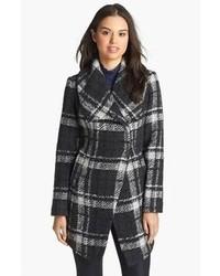 Dawn Levy Amelia Plaid Boucle Coat Small