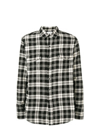 Saint Laurent Classic Western Plaid Shirt