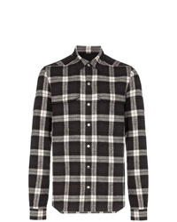 Rick Owens Check Print Cotton Shirt